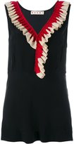 Marni sleeveless ruffled top
