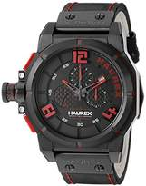 Haurex Italy Men's 6N510URR Space Stainless Steel Watch with Black Band