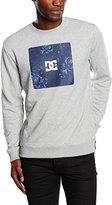 DC Men's Square Hit Crew M Otlr Knfh Sweatshirt
