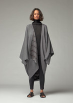 Issey Miyake 132 5 Women's Double Face Stripe Jacket in Grey