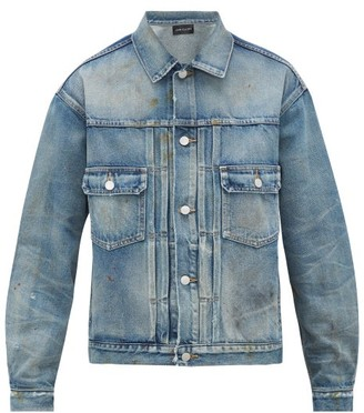 John Elliott Thumper Type Iii Denim Jacket - Mens - Blue
