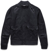 Tomas Maier Slim-Fit Suede Bomber Jacket