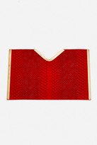 Fashion to Figure Cera Embossed Snake Clutch