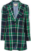 Gucci patched checked blazer