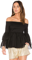 Rachel Zoe Charlotte Top in Black. - size 2 (also in )