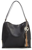 Kate Landry Deaux Hobo Bag with Metallic Shoulder Pouch