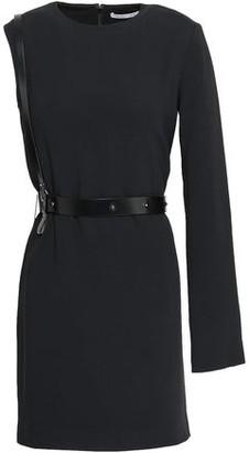 Helmut Lang Asymmetric Belted Crepe Mini Dress