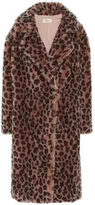 Yves Salomon Meteo leopard-print wool coat