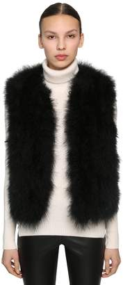 Yves Salomon Feather Vest