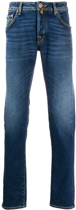 Jacob Cohen Straight-Leg Dark Wash Jeans