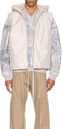 Fear Of God Hooded Nylon Vest in Bone | FWRD