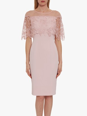 Gina Bacconi Aretha Lace Bodice Dress