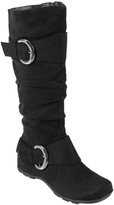 Journee Collection Black Jester Wide-Calf Boot
