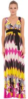 Olian Women's 'Natasha' Print Maternity Maxi Dress