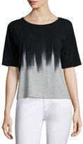Lafayette 148 New York Short-Sleeve Artisan Hand-Brushed Tee