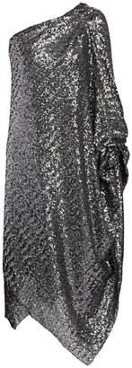 Roland Mouret Worthing One-Shoulder Sequin Cocktail Dress
