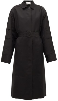 Jil Sander P.m. Belted Technical-twill Trench Coat - Womens - Black