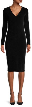 James Perse Knit Long-Sleeve Bodycon Dress
