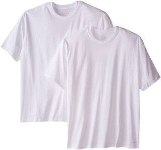 Calvin Klein Men's Big and Tall Cotton Classics 2 Pack Crew Neck Tshirts