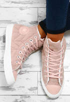 Pink Boutique Chuck Taylor Converse Pink Quilted High Top Trainers