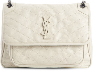 Saint Laurent Medium Niki Leather Shoulder Bag