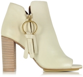 See by Chloe Vanilla Leather Ankle Bootie w/Zip