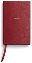 Smythson 'Panama Notes' Pocket Notebook - Red