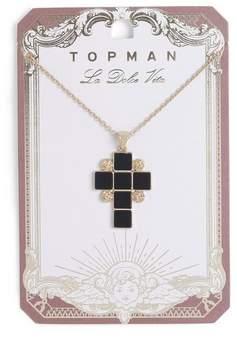 Topman Mens Black Cross Necklace*