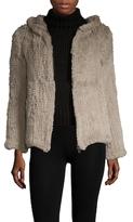 Adrienne Landau Fur Hooded Coat