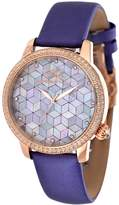 Porsamo Bleu Women's Evelyn Rose Gold-Tone Stainless Steel & Satin Watch, 38 mm