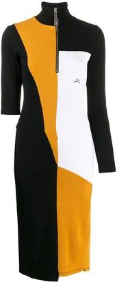 A-Cold-Wall* Asymmetric Colour-Block Dress
