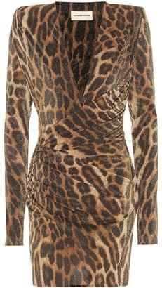 Alexandre Vauthier Leopard-print jersey minidress