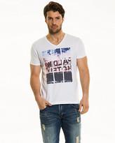 Le Château Placement Print Cotton Blend T-Shirt