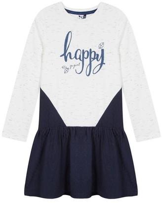 3 Pommes Kid Girl Dress Broken White