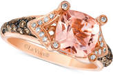LeVian Le Vian Chocolatier® Peach MorganiteTM (1-5/8 ct. t.w.) and Diamond (3/8 ct. t.w.) Ring in 14k Rose Gold