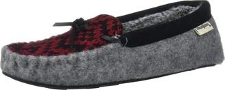 Dearfoams Women's Felted Microwool and Fairisle Knit Moccasin Slipper