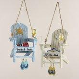 """Kurt Adler 2.75""""Resin Beach Chair Ornament 2/Asstd."""