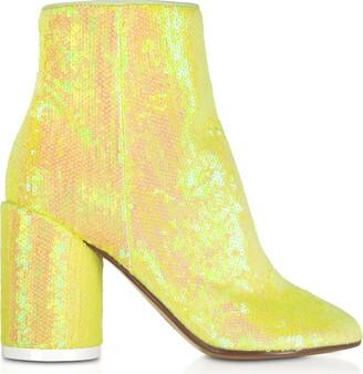MM6 MAISON MARGIELA Mm6 Maison Martin Margiela Blazing Yellow Sequins And Suede Boots