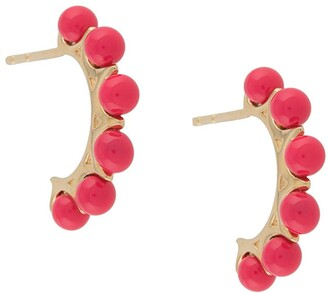 Bottega Veneta Enamel-Detail Hoop Earrings