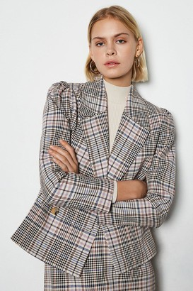 Spring Check Double Breasted Jacket