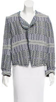 Derek Lam 10 Crosby Tweed Open Front Jacket w/ Tags