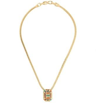 Susan Caplan Vintage 1980s Vintage Dorlan Rectangular Pendant Necklace