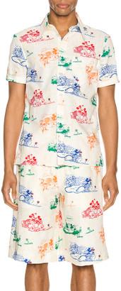 Gucci x Disney Printed Cotton Shirt in Ivory & Yard Print   FWRD
