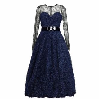 Matsour'i Cocktail Dress Sylke Blue