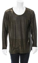 Dries Van Noten Metallic Scoop Neck Sweater