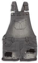Calvin Klein Jeans Girls Distressed Denim Overalls