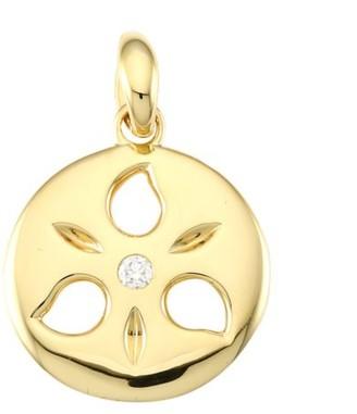 Tamara Comolli 18K Yellow Gold & Diamond Small Sand Dollar Pendant