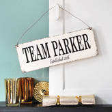 Delightful Living Personalised Family Team Sign