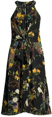 Kobi Halperin Mavis Tie-Waist Silk Dress
