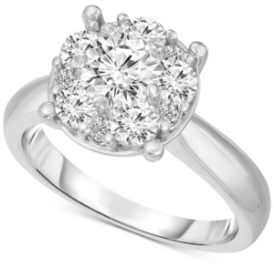 TruMiracle Diamond Engagement Ring (2 ct. t.w.) in 14k White Gold